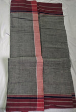 Load image into Gallery viewer, Cotton Handloom saree grey pink Karnataka handwoven revival NGO Made In India Chanchal Summer Wear