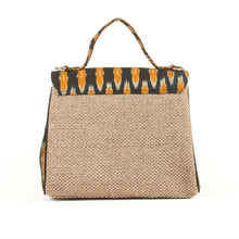 Load image into Gallery viewer, Black jute handbag