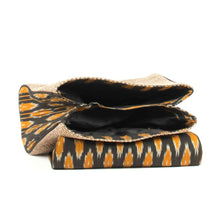 Load image into Gallery viewer, Ikat Black Chevron Handbag