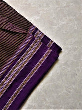 Load image into Gallery viewer, Aubergine Mustard Hubli Cotton Saree