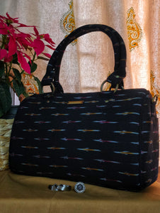 Black Ikat Duffle Bag