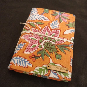 Orange Green Blockprint Journal