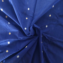 Load image into Gallery viewer, Blue Chanderi Silk Cotton Saree with Peacock Motifs