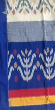Load image into Gallery viewer, Cottonsaree Madeinindia Chanchal Bringing Art to Life Handloom Blue White Mustard Saree Ethnicwear Officewear