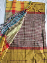 Load image into Gallery viewer, Brown Chettinad Cotton Handloom saree Karnataka handwoven revival NGO Made In India Chanchal Summer Wear
