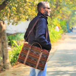 Chanchal Ikat Laptop bag Handcrafted premium ethical vegan jute handcrafted