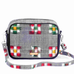 Ikat Grey Box Sling Bag