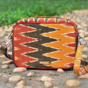 Ikat Chevron Box Sling Bag Chanchal