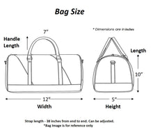 Load image into Gallery viewer, Bag Dimensions Size Chart Chanchal