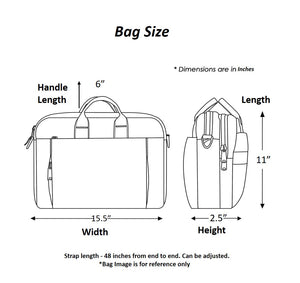 Chanchal Laptop bag Size