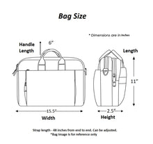 Load image into Gallery viewer, Chanchal Laptop bag Size
