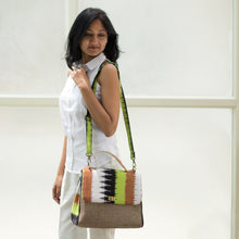 Load image into Gallery viewer, Ikat Chartreuse Green Handbag
