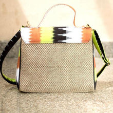 Load image into Gallery viewer, ikat jute handbag