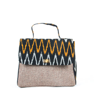 Ikat Black handbag