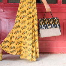 Load image into Gallery viewer, Ikat Black Handbag