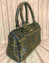 Load image into Gallery viewer, Mehendi Green Silk Duffle Bag