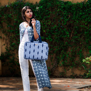Ikat Blue Laptop Bag