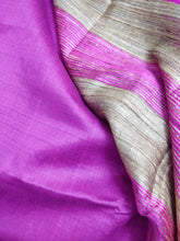 Load image into Gallery viewer, Fuschia Pink Tussar Silk Saree Chanchal handloom India textile ethnic wear women girl function festival gift textile sari