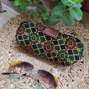 Sunglass Spectacle Specs case pouch cover Chanchal Indigo Made in India