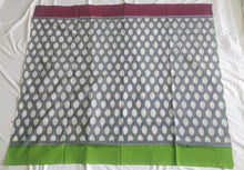 Load image into Gallery viewer, Cottonsaree Madeinindia Chanchal Bringing Art to Life Handloom Grey Fluroscent Green Cotton Saree Ethnicwear Officewear