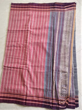 Load image into Gallery viewer, Cotton Handloom saree grey purple pink Karnataka handwoven revival NGO Made In India Chanchal Summer Wear