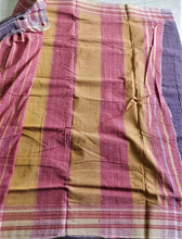 Load image into Gallery viewer, Grey Purple Hubli Cotton handloom Saree Chanchal Made in India Summer wear comfortable everyday pallu