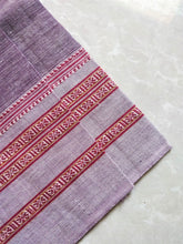 Load image into Gallery viewer, Grey Purple Hubli Cotton handloom Saree Chanchal Made in India Summer wear comfortable everyday