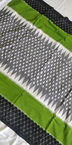 Cottonsaree Madeinindia Chanchal Bringing Art to Life Handloom Grey and Green Saree Ethnicwear Officewear