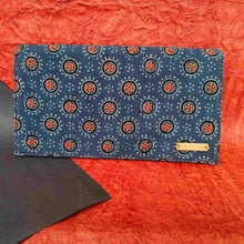 Load image into Gallery viewer, Ajrakh Blue Clutch Chanchal