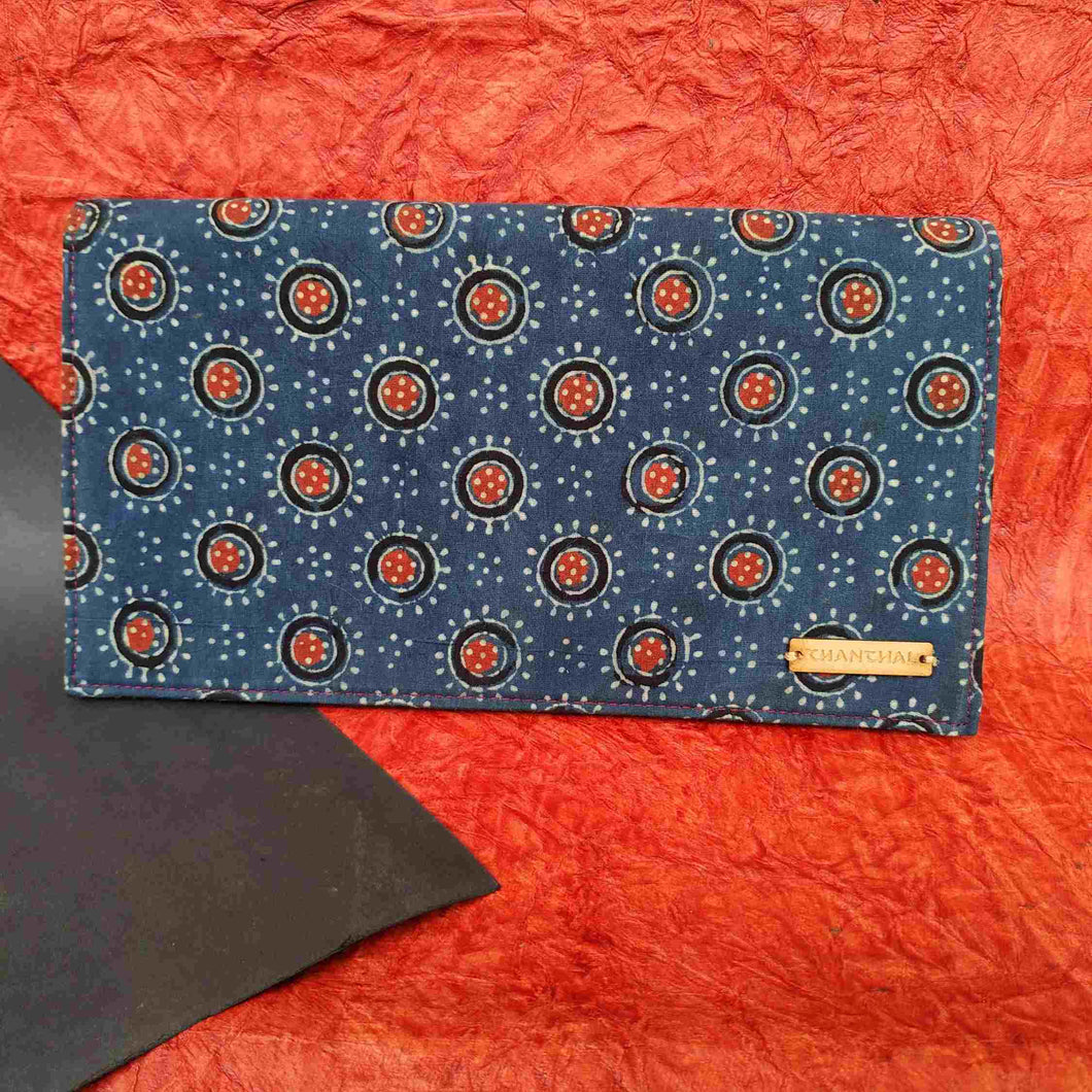 Ajrakh Blue Clutch Chanchal