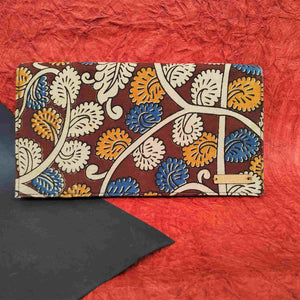 chanchal Kalamkari Blue clutch
