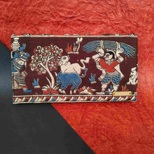 Load image into Gallery viewer, Kalamkari Maroon Clutch Chanchal
