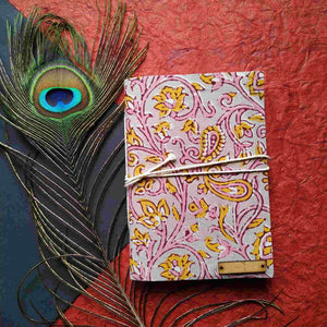 Pink Blockprint Journal Chanchal