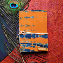 Load image into Gallery viewer, Orange Blockprint Journal Chanchal