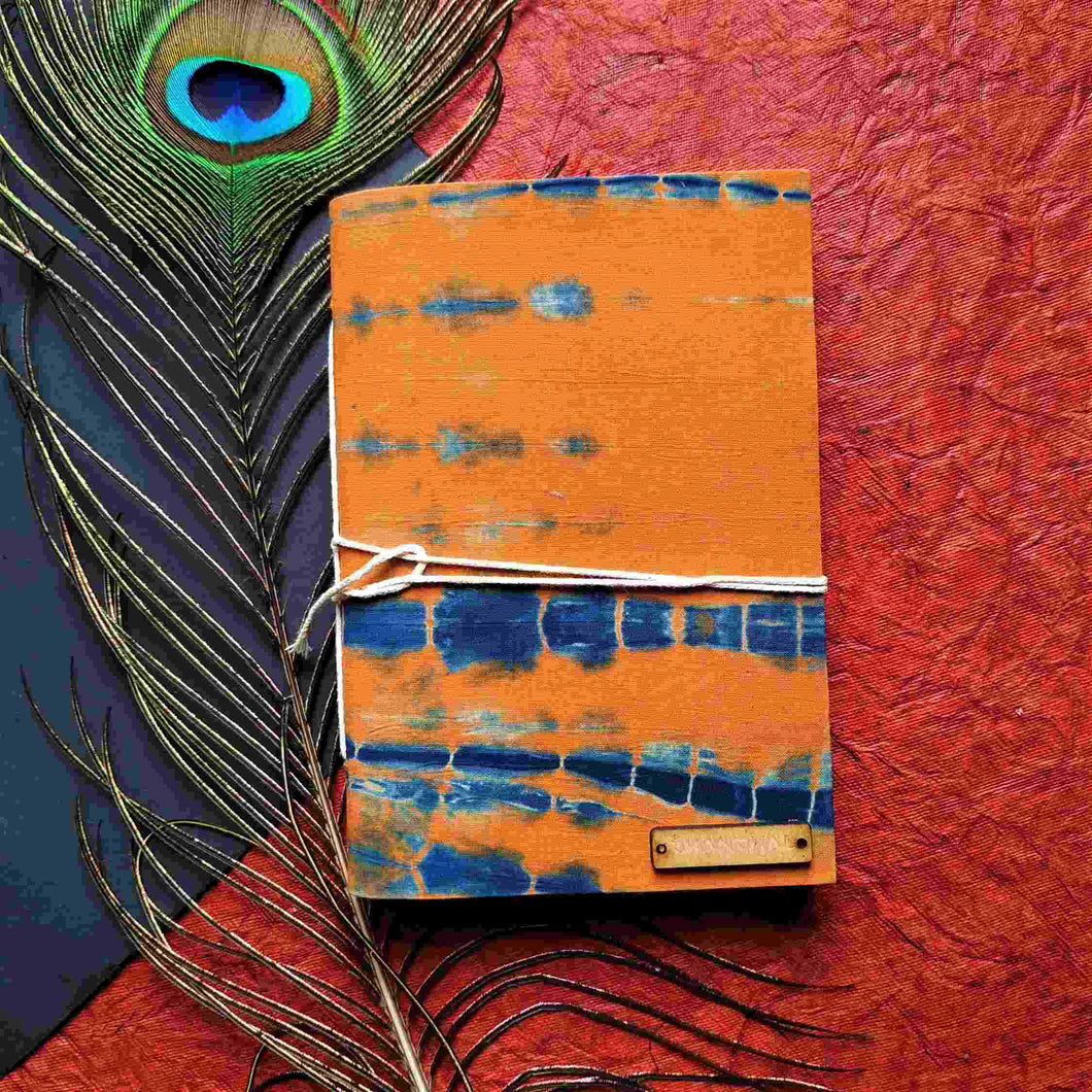 Orange Blockprint Journal Chanchal