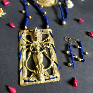 Devi Collection Mahishasurmardini Dokra Necklace Jewelry Jewellery