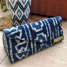 Load image into Gallery viewer, Indigo Box & Stripe Shade Case Chanchal neela collection