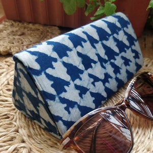 Neela ~ Asymmetrical Indigo Shade Case Chanchal