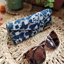 Load image into Gallery viewer, Indigo Dabu Shade Case Chanchal Neela collection