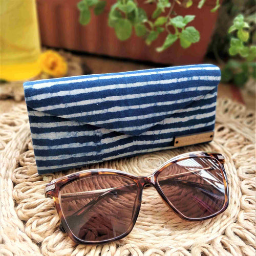 Neela ~ Indigo Stripe Shade Case chanchal