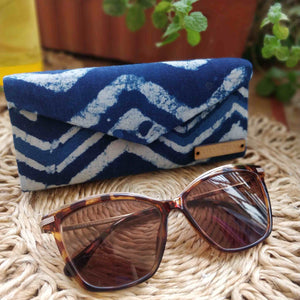 Indigo Chevron Shade Case Chanchal