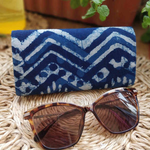 Indigo Chevron Shade Case Neela Collection Chanchal