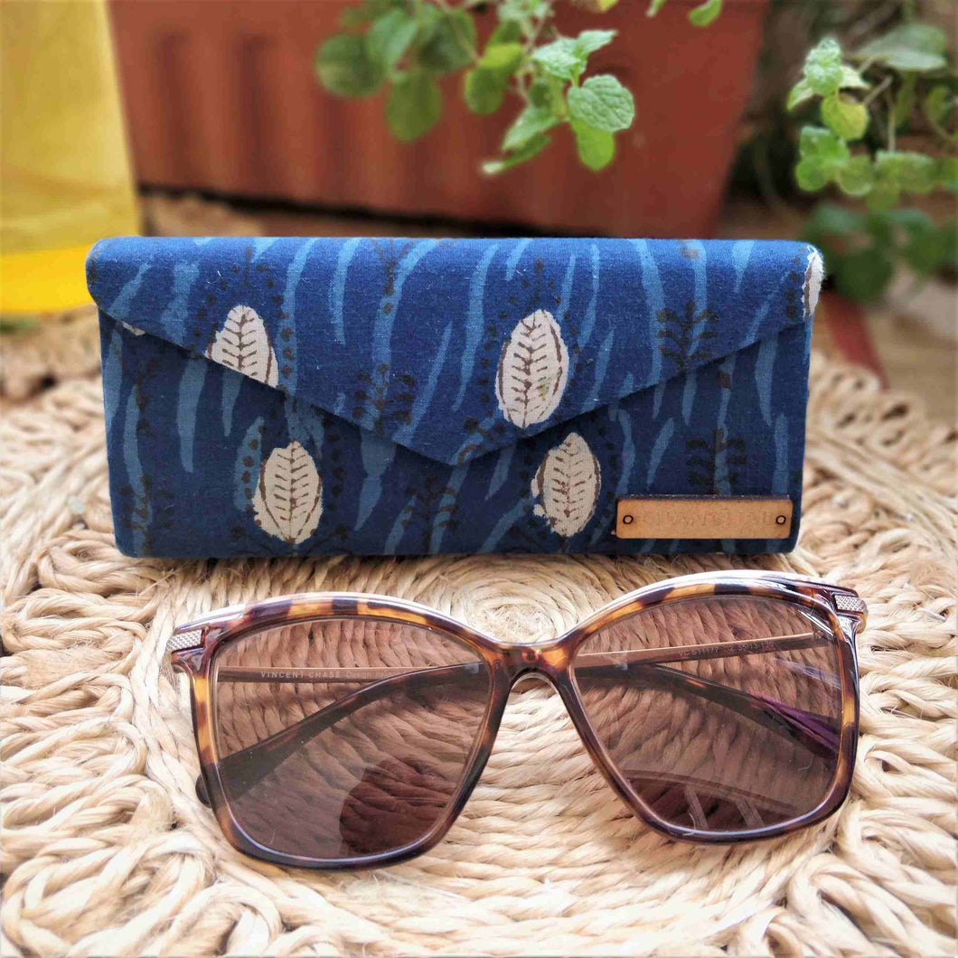 Block print Indigo shade case Neela chanchal