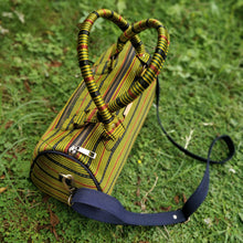 Load image into Gallery viewer, Green Ajrakh Duffle Bag Chanchal Handbag Duffel Sustainable Fashion Made in India