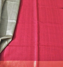 Load image into Gallery viewer, Red Gold Saree Laal Silk Tussar Sari Indian wear chanchal handloom bhagalpuri Bihar