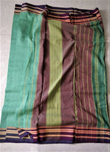 Load image into Gallery viewer, Cotton Handloom saree sea green Karnataka handwoven revival NGO Made In India Chanchal Summer Wear