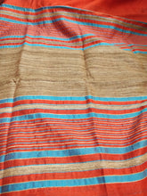 Load image into Gallery viewer, Red Tussar Silk Saree with Ghicha Pallu