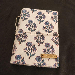 Indigo Flower Blockprint Journal