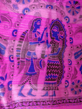 Load image into Gallery viewer, Fuchsia Pink Tussar Silk Saree