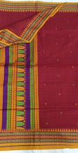Load image into Gallery viewer, Maroon Dongria Cotton Saree